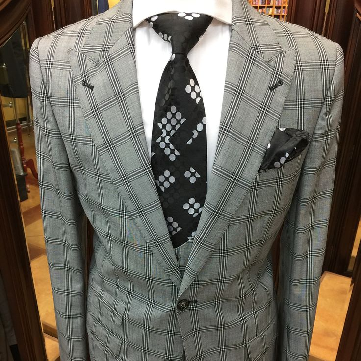 Whats In Your Closet? Add This 3 Piece Gray/Black Windowpane Suit To Your Collection! Ticket Pockets Matching Pick Stitch Detailing Contrast Lapel & Buttonholes Beautiful Two Tone Buttons. Its Time To Change The Game! $549.99 #suits #bespoke #customclothing #haberdashery #fashion #dapper #chicago #batonrouge #southernuniversity #mensfashion  The Masters Touch Mens Clothier  3052 Monterrey Drive  Baton Rouge La 70814 225-927-9589