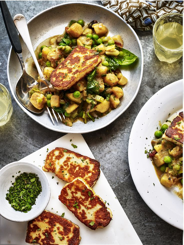 Take a look at this amazing recipe for Bombay potato hash which is packed full of tasty ingredients. Serve with some curried halloumi for a delicious meal.