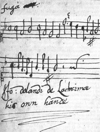 John Dowland manuscript