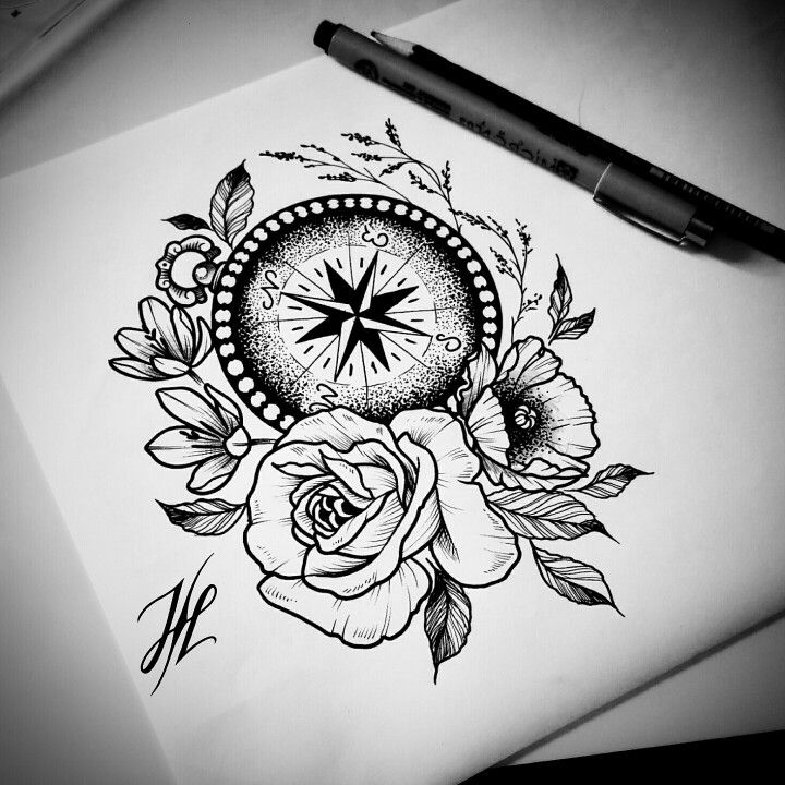 Ornamental compass design by Marjorianne