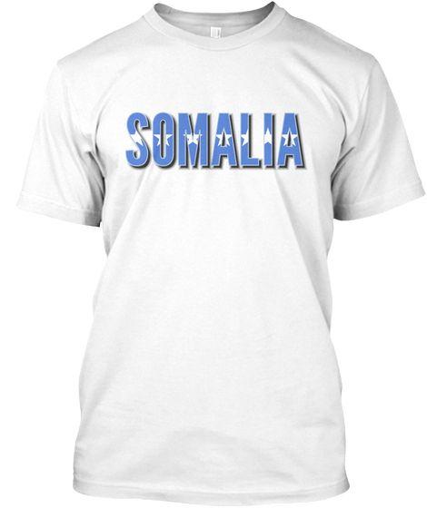 Somalia flag font Tshirt