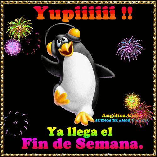 SUEÑOS DE AMOR Y MAGIA: Yupiiiii !!!! y llega el fin de semana