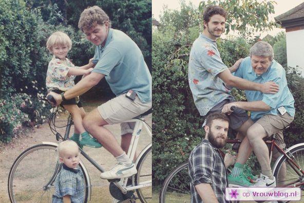 Broers maken oude kinderfoto's opnieuw