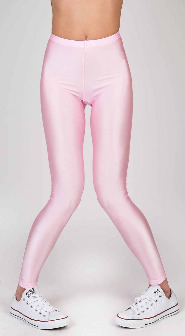 PCP Jaqueline - baby pink shiny leggings