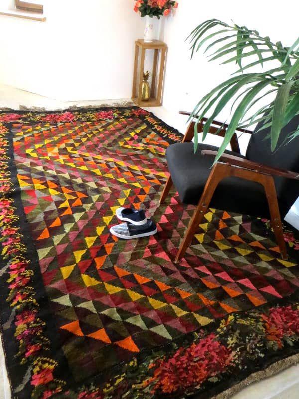 wool rugturkish kilim rugspersian rugbeni ourain rag rugazilal rugmoroccan kilimtapis boheme - 5x7 Rugs