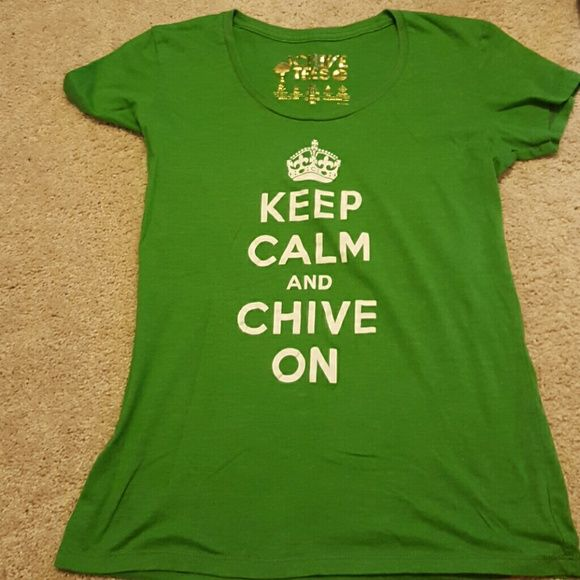 Chive shirt Green, Chive on tee Chive  Tops Tees - Short Sleeve