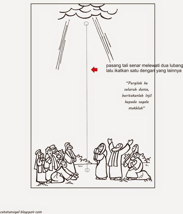 """Catatan SiGal: Bahan Kreativitas Sekolah Minggu """"Hari Raya Kenaikan Tuhan"""" PIA Kumetiran"""