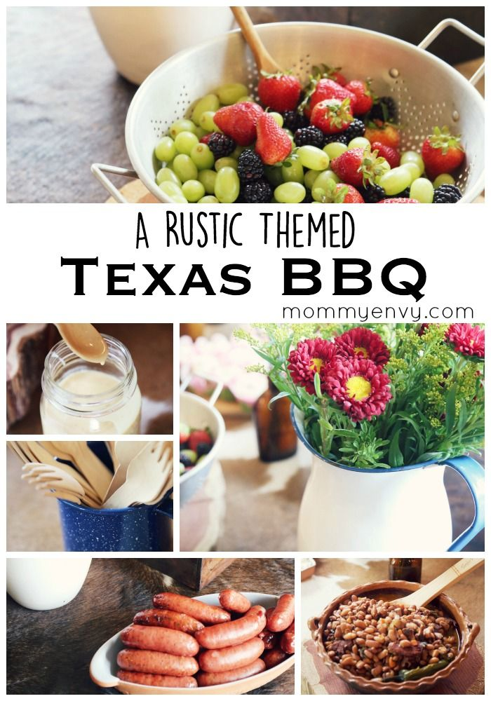 How to throw a rustic themed Texas BBQ party. Great rustic party ideas for a Texas BBQ, birthday party, or retirement party!