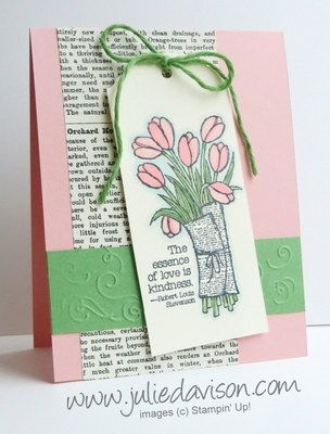 Stampin' Up! Love is Kindness Tag Card with Blendabilities #occasions #stampinup www.juliedavison.com
