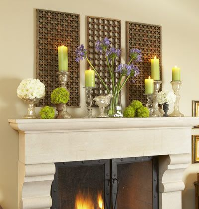 Mantel - in light blue and white
