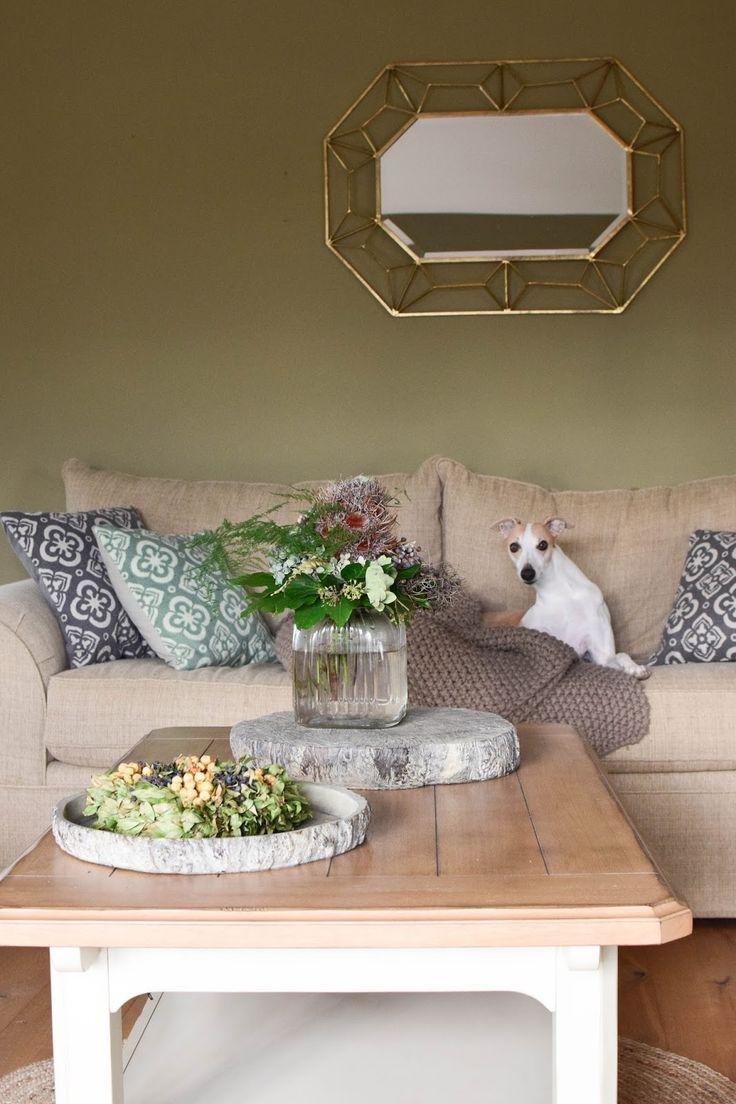 Perfect Deko Für Den Tisch Im Winter. Wohnzimmer Farbenfroh Und Natürlich Dekorieren.  Naturdeko Dekoidee Dekoration