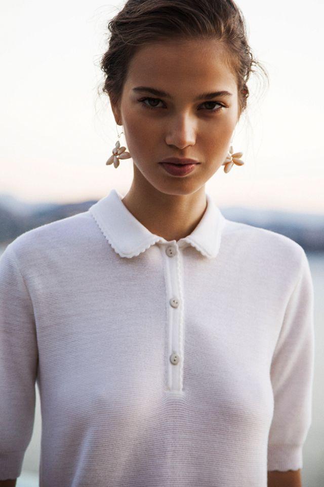 Découverte chezCarton Magazine, je suis tombée en amour pour ce petit polo tricoté dela Maison Molli. Coup de coeur pour ces modèles intemporels...