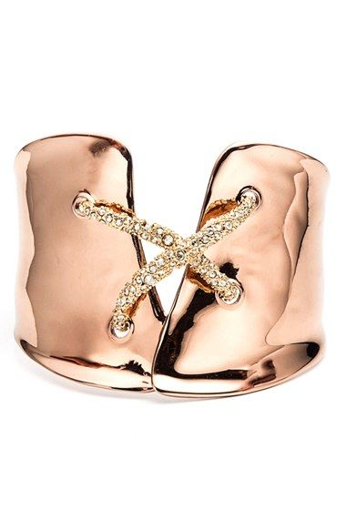 Alexis Bittar 'Miss Havisham' Encrusted Crisscross Cuff available at #Nordstrom