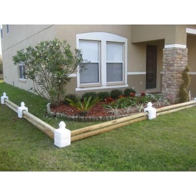 Border Blocks 9.77 in. W x 9.77 in. D x 4.77 in. H Inline Block White (1 Piece)-BB101WH - The Home Depot