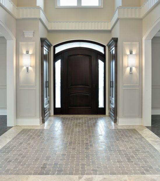 Unique Millwork Wall Covering And: Elegant : Floor Tiles : Wall Sconces : Door : Molding