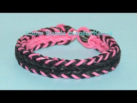 Loom Bandz Anleitung Deutsch, Rainbow Loom Armband - YouTube