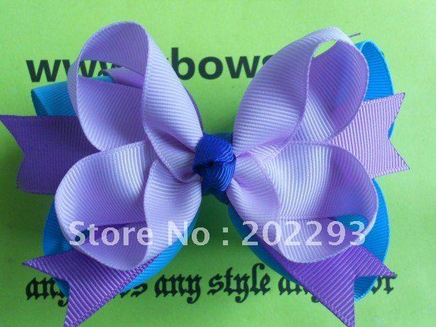 5 дюйм(ов) красивый фиолетовый цвет волос луки