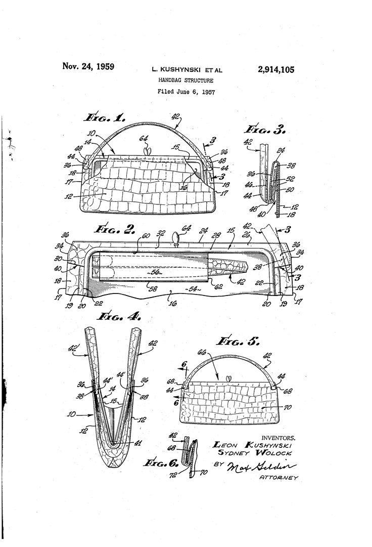 Brevetto US2914105 - Handbag structure - Google Brevetti