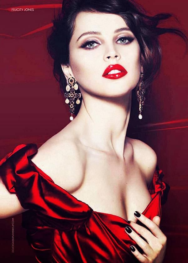 First Look: Felicity Jones for Dolce & Gabbana Makeup