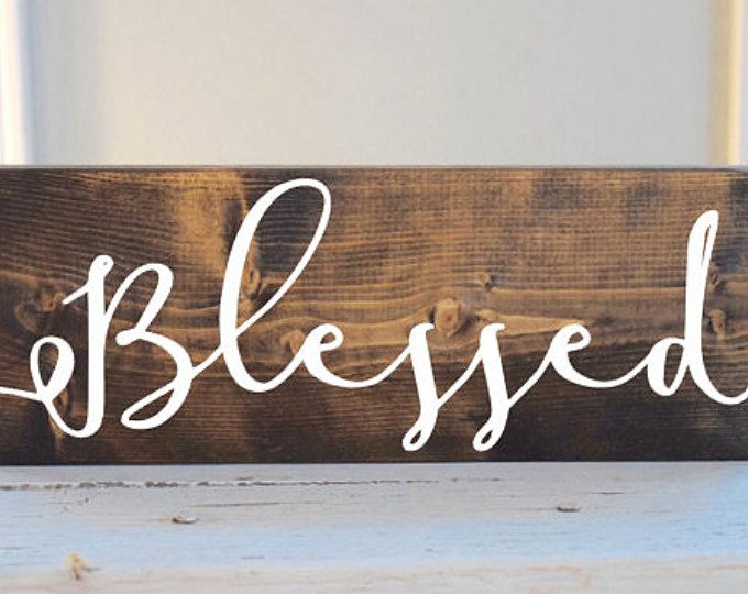 Blessed sign, Thanksgiving sign, Blessed wood sign, fall sign, autumn wood sign, rustic thanksgiving, rustic blessed sign