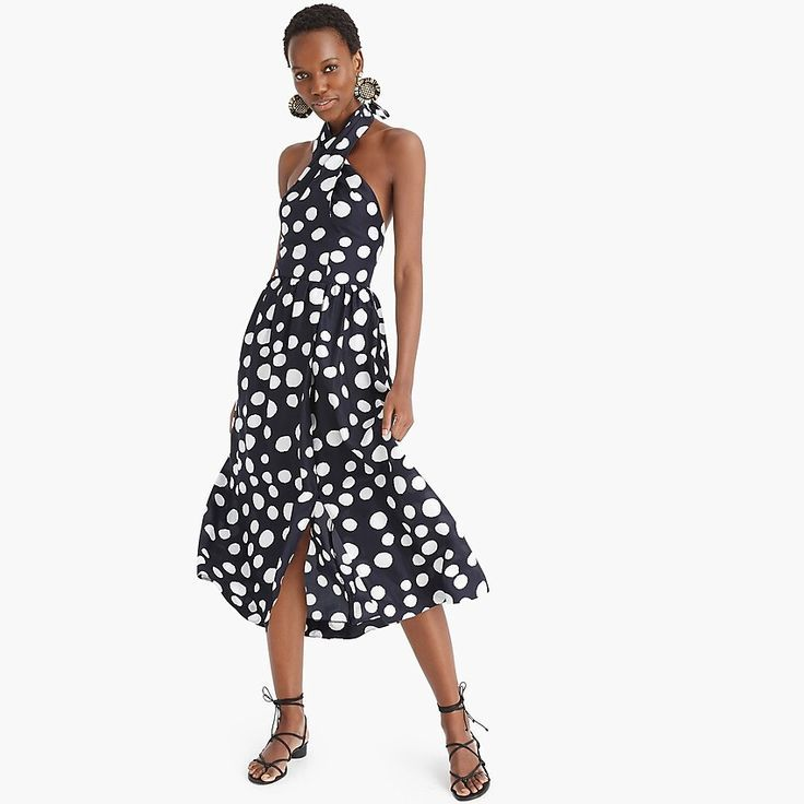 J.Crew: Silk Maxi Sarong Dress In Polka Dots – #Dots #dress #JCrew #maxi #Polka …