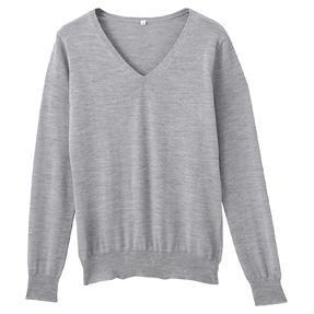 Wool & silk V neck jumper | Muji