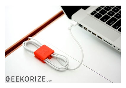 The CableClip is A sleek, minimalist design solution for managing cables of all sizes, these multi-purpose clips will help you keep your sanity by making any workstation manageable.$9.95