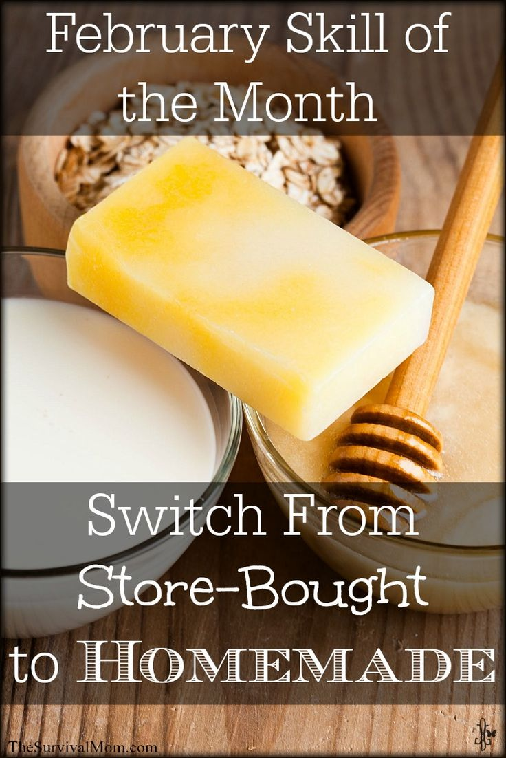 Make the switch from store-bought to homeade: food, beauty products, cleaning supplies! | via www.TheSurvivalMom.com