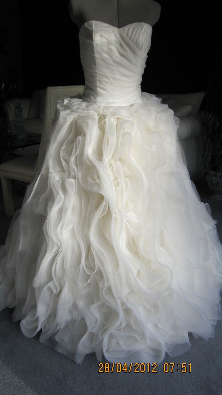 A custom made silk organza confection gown.