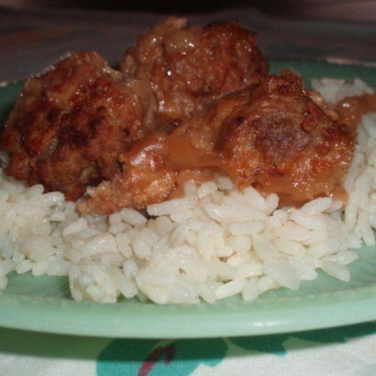 Norwegian Meatballs and Rice