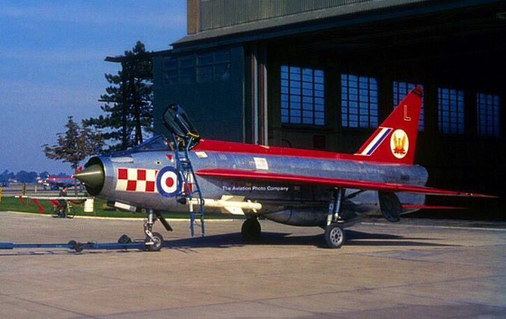 A very colorful British Electric Lightning from the No. 56 Squadron.