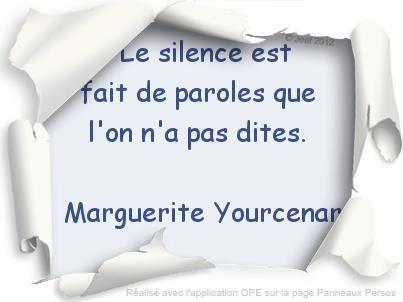 Le silence...