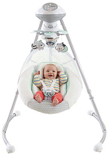 Fisher-Price Moonlight Meadow Deluxe Cradle 'n Swing Fisher-Price  Esto es feo y enoooorrme, pero se duermen tan bien aquí que vale la pena.