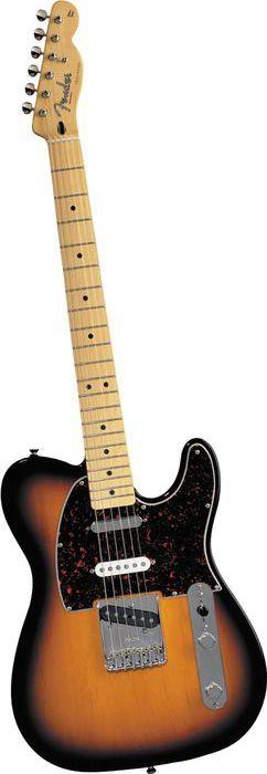 Fender Deluxe Series Nashville Telecaster Electric Guitar Brown Sunburst Maple Fretboard