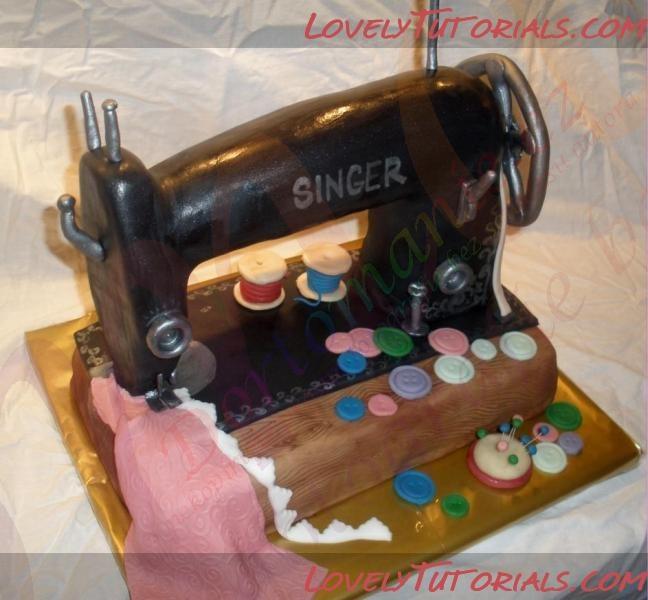 Sewing Machine Cake Tutorial Fondant Cookie Baking