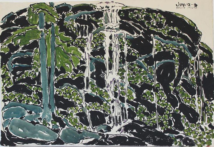 David Milne (Canada, 1882-1953) – Falling Water (1916) aquarelle sur papier