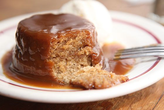 Sticky Toffee Pudding. My all time favorite dessert. Love adding in roasted squash or banana for an added sticky texture.