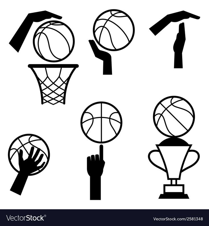 Basketball-Icon-Set von Gesten und Symbolen in Vector Image, #Ad, #set, #icon, …   – Aesthetic art