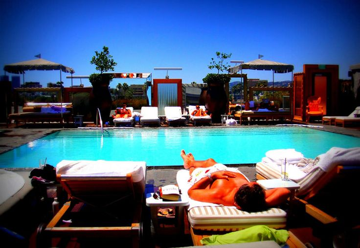 Piscina sul tetto del SLS Hotel – Beverly Hills