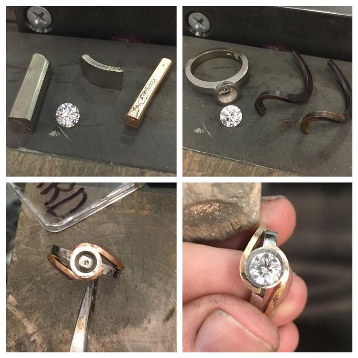Made good progress on this one today, just need to file/shape the shoulders and set the diamond #handmade #18ct #18karat #whitegold #rosegold #roundbrilliantcut #diamond #engagementring #wip #progresspic #bespoke #jewellery #custommade #canberra #jeweller