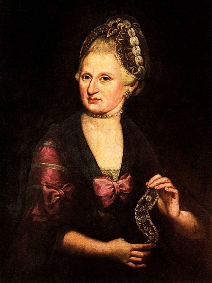 Anna Maria Mozart (Wolfgang's mother). Anonymous, 1790. Mozarteum Salzburg. http://www.universalcompendium.com/