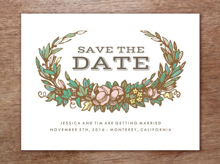 Get Modern DIY Wedding Invitations from e.m.papers