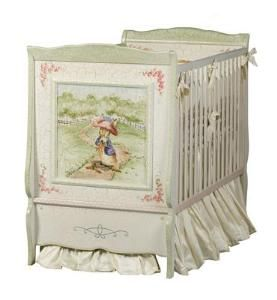 Hand Painted Enchanted Forest Crib with Benjamin Bunny from www.wellappointedhouse.com