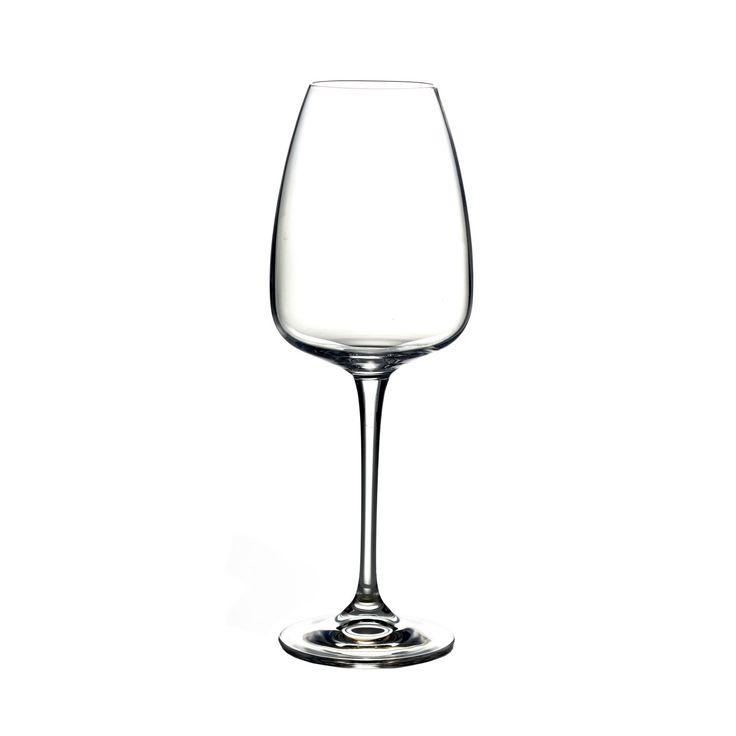 Fitz Floyd Elise 14.9-ounce White Wine Glasses (Set of 4) (Elise White Wine 4 Piece Set 14.9oz), Clear
