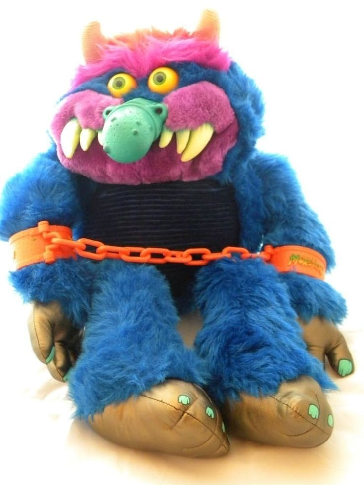 Made by: American Greetings (1986–early '90s)The popular blue furred plush doll spawned not only a short–lived cartoon, but also a very forgettable direct-to-video live-action movie. Fun fact: The original nose had to be changed due to kids getting hurt while playing with it.