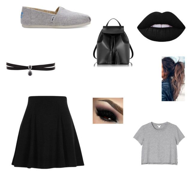"""""""Untitled #21"""" by xcon27x on Polyvore featuring River Island, TOMS, Le Parmentier, Monki and Fallon"""