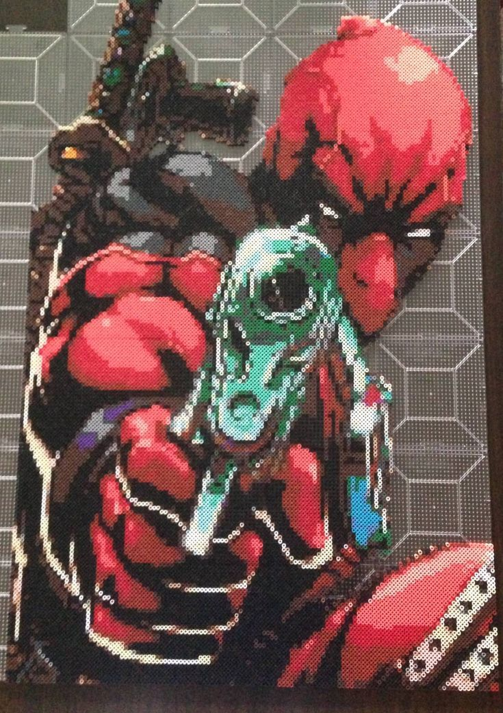 Deadpool Perler Beads