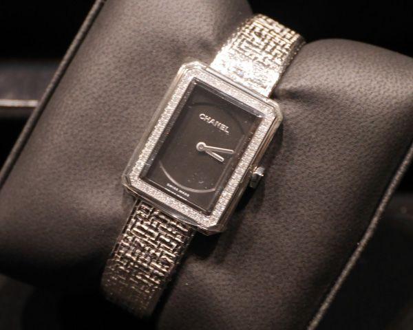 シャネル ボーイフレンド ツイード レディース H4877 ブラック クォーツ CHANEL時計コピー