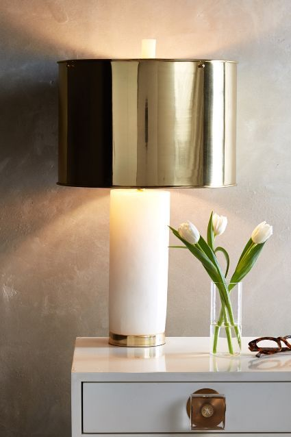 Frosted Marble Lamp Ensemble - anthropologie.com