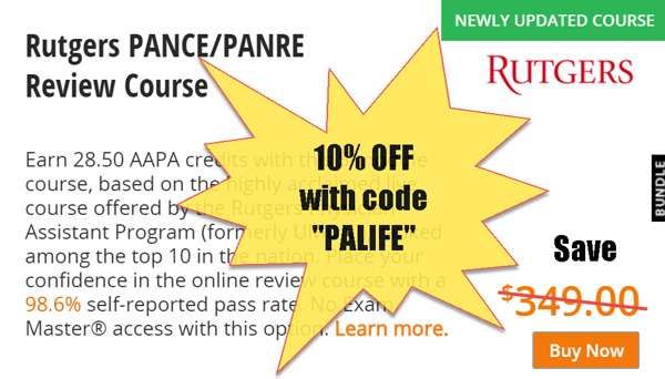 10% off  RUTGERS REVIEW COURSE with COUPON DISCOUNT CODE PALIFE